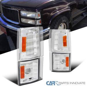 For GMC 94-99 C10 Yukon C/K Suburban Corner Lights Signal Lamps+Amber Reflector