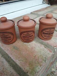 3 Small Henry Watson Storage Jars