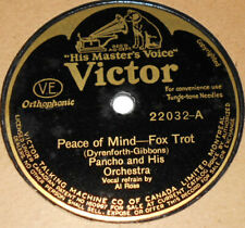Victor 22032 Pancho & Ted Weems Peace of Mind / Good Morning, Evening & Night E+