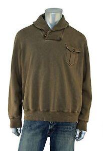Ralph Lauren RRL Vintage Fleece Shawl Neck Sweater S New $225