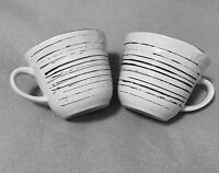2 - Pfaltzgraff Trellis White Rustic Stoneware Coffee Mugs