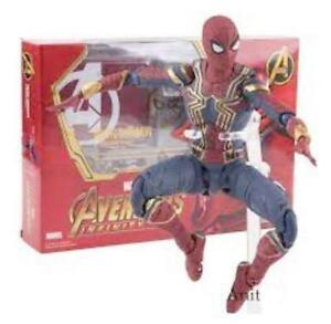 Iron Spider Deluxe Action Figure Avengers Infinity War S.H Figuarts Marvel 30