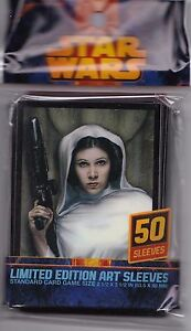 Princess Leia CARD SLEEVES DECK PROTECTORS FOR STAR WARS MTG