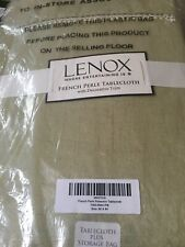 "Lenox French Perle Pistachio 60"" X 84"" Rectangle Tablecloth With Trim-NEW...!"
