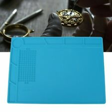 Anti-Slip Watch Jewelry Repairing Accessory Watchmaker's Blue Plastic Bench Mats