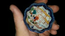 VINTAGE DECORATIVE Hand Painted Scalloped Edge Japan Miniature Finger Bowl