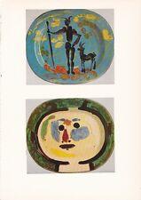 "1955 Vintage ""DECORATED PLATES"" PABLO PICASSO Color Plate offset Lithograph"