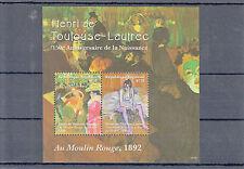 Togo 2014 neuf sans charnière Henri de Toulouse-Lautrec 150e naissance anniv 2v s / s i Moulin Rouge