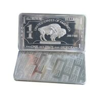 1 oz One Troy Ounce American Buffalo .999 Pure Aluminium Bullion Bar Al Element