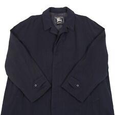 Vintage BURBERRYS Woolen Trench Coat | Jacket Burberry Wool Retro Pea Mac Navy