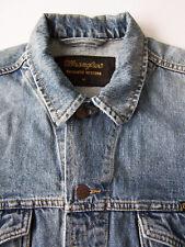 Wrangler W41001 Denim Jacket Men's Medium Blue Vintage LJKT347 #