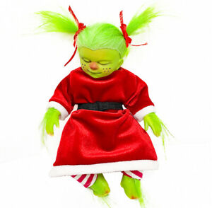 20cm size Baby Grinch Toy Cartoon Doll Plush Animals Toy Kids Gift
