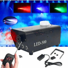500W Nebelmaschine RGB LED Smoke Maschine Fogger Nebelgerät Halloween Party DJ