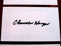 CHANDLER HARPER 1950 PGA CHAMP 1947 MASTERS GOLF SIGNED AUTO VTG INDEX CARDS