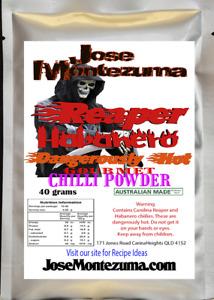 Gourmet Reaper Habanero Chilli Powder with Carolina Reaper 40 gram