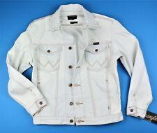 New Wrangler MEN'S BLEACHED DENIM TRUCKER JACKET Sizes S M L XL XXL 100% Cotton
