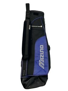 EUC- Mizuno SCRATCH-SAC Sunday Golf Bag Blue & Silver Single Strap