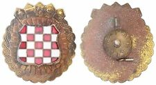 CROATIA ARMY - HV   ZNG - SOLDIER CAP BADGE FROM 1991-1995  enamel badge type 3