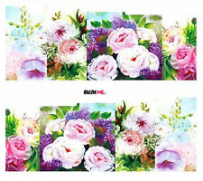 Nail Art Sticker Water Decals Transfers Decorative Flowers Floral (C256)