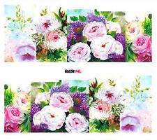 Etiqueta engomada de Arte en Uñas Transferencias de calcomanías de decoración Flores Floral de agua (DC256)