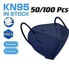 50/100 Pcs Blue KN95 Protective 5 Layer Face Mask BFE 95% Disposable Respirator