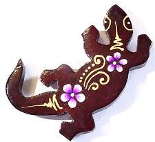 Magnet Aimant Gecko Margouillat Bois Frigo Artisanal Animal wooden Salamandre