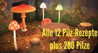 Animal Crossing New Horizons 🍄alle 12 Pilz-Rezepte plus 280 Pilze🍄