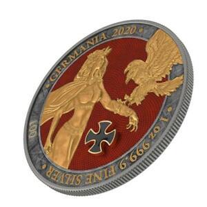 Germania 2020 5 Mark - Germania - Gold Cross - 1 Oz Silver Coin