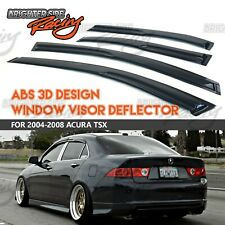 JDM Visors 2.0 mm 4pcs Out Channel Rain Guard For Acura TSX 2004-2008 04-08
