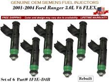 6 Fuel Injectors OEM SIEMENS for 2001-2004 Ford Ranger 3.0L V6 FLEX #1F1E-D4B