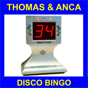 Bingo Machine Disco Bingo with Music & Lights 1-90 & 1-75 Family Bingo Party