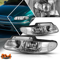 For 96-99 Caravan/Town&Country Projector Quad Lamps Headlight Clear Side Chrome