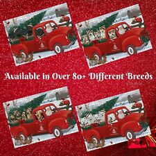 Christmas Santa Express Delivery Red Truck Jigsaw Puzzle, Dogs, Cats, Pet