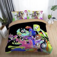 3D Splatoon Game Painting Kids Bedding Set Duvet Cover Pillowcase Quilt Cover