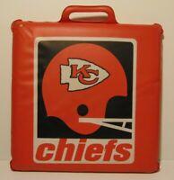 VINTAGE 1970s KANSAS CITY CHIEFS HELMET LOGO NFL FOOTBALL SEAT CUSHION KC SCOUTS