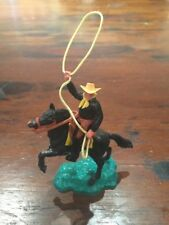 Timpo 2nd Series Mounted Cowboy - Black Lassooist - 1960's