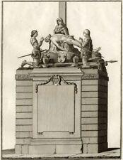 Jeanne d'Arc Monument de  la Pucelle d'Orléans - Millin Gravure originale XVIIIe