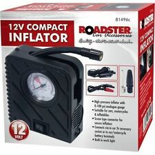 12V MINI INFLATOR TYRE AIR COMPRESSOR CAR COMPACT PUMP WITH TORCH MOTORCYCLE VAN
