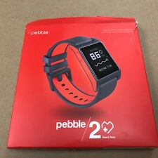 Pebble 2 + Heart Rate Black/Flame Polycarbonate