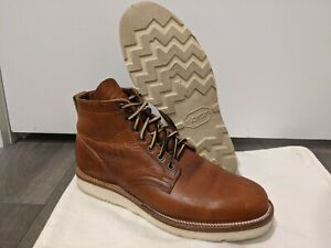 *USED* VIBERG X DIVISION ROAD INC SERVICE BOOTS SIZE 8 2030 NATURAL DUBLIN