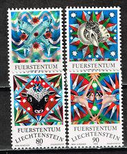 Liechtenstein Art Max Hunziker Famous Paintings stamps set 1976 MNH