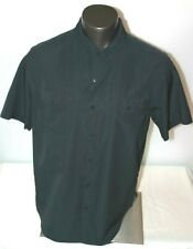 Merrell Black Snap Button Short Sleeve Select Dry Hiking Shirt Men's Sz Xl Euc