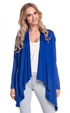 Winter Coats for Women Stretchy Waterfall Blazer Jersey Cardigan Top Royal Bue