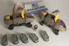Coleco Starcom Lot of 2 Shadow Raider Vehicles 1986
