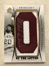 2012 13 sp authentic Micheal Ray Richardson By The Letter Signature /100