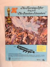 Morning After from the Poseidon Adventure  single sheet music film tie-in cover