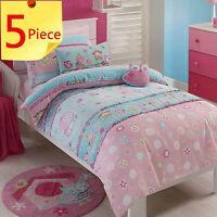 Birdcage Kids Duvet Doona Quilt Cover Set + 2 x Cushions | Owls, Birds | Double