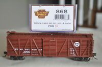 HO-Broadway Limited 868 PRR Pennsylvania RR Outside Braced Stock Car 134643