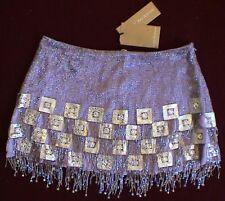 New Jenny Packham silk mini skirt with Swarovski crystals & beads 8UK