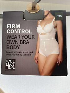 DEBENHAMS....LADIES FIRM CONTROL WEAR YOUR OWN BRA BODY...Natural..Size 22.BNWT